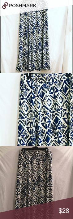 Blue Maxi Skirt This is a blue maxi skirt with geometric design. Brand new. Cato Skirts Maxi