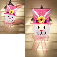 Outdoor Easter Bunny Light Covers - Set of 2