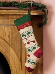 Folkways Christmas Stocking   Yarn   Free Knitting Patterns   Crochet Patterns   Yarnspirations