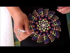 Como pintar mandalas con acrílicos #10 - Ojo turco - Turkish eye - YouTube