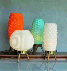 Vintage mid-century table lamps... http://amzn.to/2t2rfh9