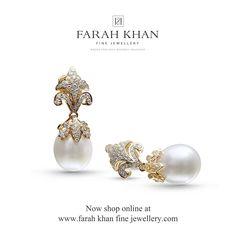 Farah Ali Khan Pearl Jewelry, Indian Jewelry, Diamond Jewelry, Gold Jewelry, Jewelry Box, Jewelery, Diamond Earrings, Vintage Jewelry, Fine Jewelry