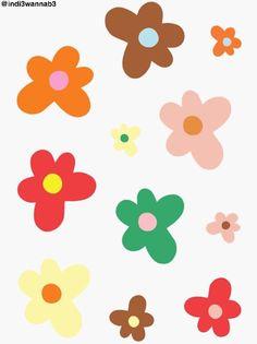 indie flowers cutout