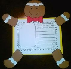 how to display work Might do the Gingerbread man just to do the… Gingerbread Man Story, Gingerbread Man Activities, Holiday Activities, Classroom Activities, Classroom Ideas, Gingerbread Crafts, School Holidays, School Fun, School Stuff