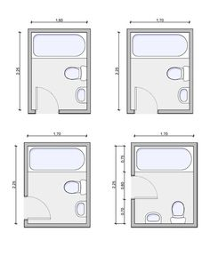 Bathroom Layout Types adjoining baths, bath layouts, bathroom layout | for the home