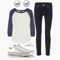 Casual outfit paired with white converse sneakers Converse Outfits, Converse Sneakers, White Sneakers, Casual Sneakers, White Shoes, Casual Shoes, Look Fashion, Teen Fashion, Autumn Fashion
