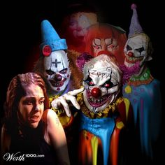 Coulrophobia=fear of clowns. Yep, and if you want an incredibly extensive list of odd wacky phobias go to www.phobialist.com.