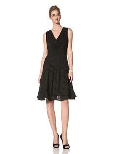 Adrianna Papell Women's Sleeveless Dress with Ribbon Soutache Skirt at MYHABIT