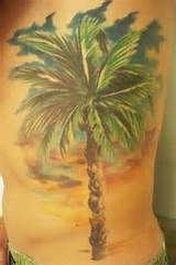 Palm Tree Sunset Tattoo Palm