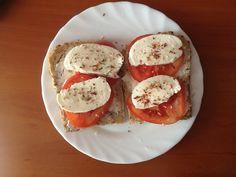 Breakfast #tomatoes #mozarella #sandwiches