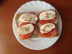 Breakfast #tomatoes #mozarella #sandwiches