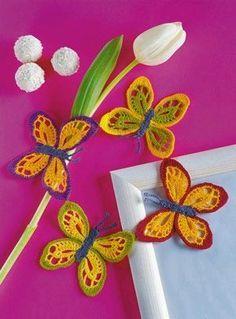 Crochet butterfly diagram pattern