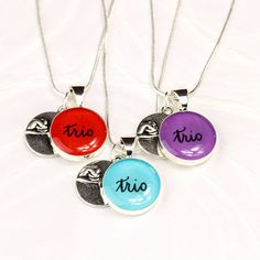 Best Friends Necklace Set of 3  Trio Necklace with by BlissInArt