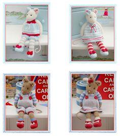 'TEAROOM & CORNISH Mice' ...Knitting Patterns from Mary Jane's TEAROOM...