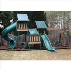 Monkey Playsystem Swing Set Green Package #4 (Toy)