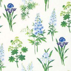 Botanica Blå Metervara - 229 kr/m - textilgallerian.se