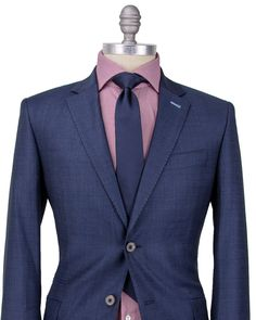 """Circle of Gentlemen Navy Stanton Suit 2 button jacket Navy melton Fully lined: light blue lining Stanton suit 2 Pant  9"""" rise zip fly 3 button close Double welt buttoned back pockets 8"""" hem opening   100% wool"""