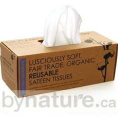 Reusable Tissue Box with Organic Cotton Tissues