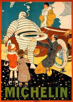 Michelin Man Bibendum, 1914  Oh, you crazy old designers....