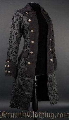 Damen Mantel Jacke Pirate Princess Coat Brokat Victorian Gothic Cute RQ Black i. Damen Mantel Jacke Pirate Princess Coat Brokat Victorian Gothic Cute RQ Black in Kleidung Steampunk Clothing, Steampunk Fashion, Victorian Fashion, Gothic Fashion, Gothic Clothing, Victorian Gothic, Mens Fashion, Pirate Fashion, Royal Clothing