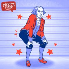 #Twerk for your freedom with George Washingbuns. This Fourth of July, party in style like a true #Merica patriot. There's nothing more American than red, white and butts. George Washington would fight for your right to shake it.