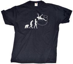 EVOLUTION OF THE CLIMBER Adult Unisex T-shirt / Cute, Funny Rock Climbing Shirt