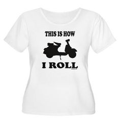 Your shirt to wear while scootering Scooter Motorcycle, Vespa Scooters, Piaggio Vespa, Girl Photography, Neck T Shirt, Plus Size, T Shirts For Women, My Style, Casual