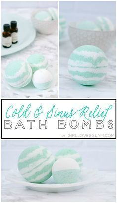 Cold and Sinus Relief Bath Bombs on www.girllovesglam.com
