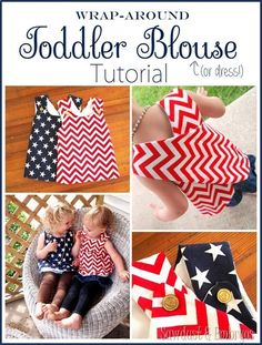 Wrap-around Toddler Blouse (or dress!) Tutorial.... PERFECT sewing project for beginners, or anyone that likes cute things Sawdust and Embryos