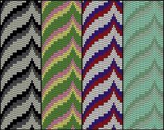 Bargello Peyote pattern