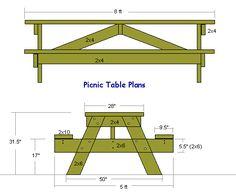 Picnic table plans.