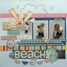 #papercraft #scrapbook #layout The Paper Doll: Beachy Keen