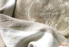 Льняные шторы с вышивкой