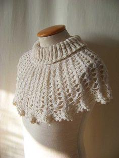 Knit/Crochet pattern, White cowl, PDF