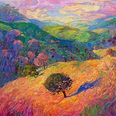 """DID you know that Erin Hanson's works are available in print directly through www.erinhanson.com/prints? This beauty, """"Expanse of Color"""" is available in several dimensions ranging from 12""""x15"""" to 42""""x51""""."""