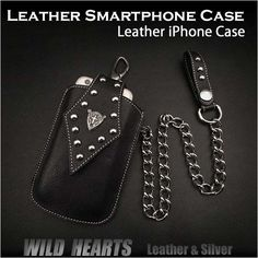 iPhone 6 / GALAXY S5/AQUOS SH-M01/AQUOS CRYSTAL....etc size!   Genuine Cowhide Leather iPhone6s Case Smartphone Case WILD HEARTS Leather&Silver(ID cc1327r22)  http://global.rakuten.com/en/store/auc-wildhearts/item/cc1327r22/