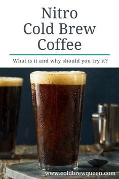 Nitro Cold Brew Coffee-What is it? Diy Cold Brew Coffee, Cold Brew Coffee Recipe, Coffee Barista, Coffee Cafe, Coffee Drinks, Espresso Coffee, Cold Brew At Home, Nitro Cold Brew, Nitro Coffee