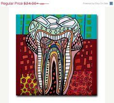 Tooth Dental Anatomy Art Tile Ceramic Coaster Medical Science Dentist Print on Tile (HG857)
