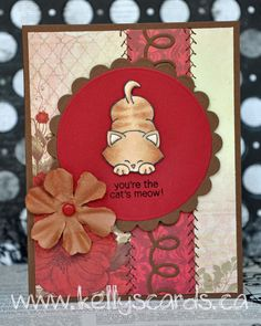 """Today's """"Anything Goes Cat Card"""" Stamps & fun = Creativity Challenge –Anything Goes Hey everyone! Sorry for not posting for a few weeks, life has been busy with packing and getting ready to move! Half of my craft room is in the basement and some is packed! This challenge is for anything goes. I love …"""
