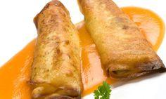 Receta de Crepes de puerro y queso Crepes Rellenos, Crepes And Waffles, Pancakes, Tacos And Burritos, Portuguese Recipes, Empanadas, Sweet Recipes, Tapas, Meal Prep