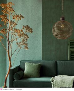 living room paint color ideas New living room green wallpaper paint colors ideas Living Room Green, Green Rooms, New Living Room, Living Room Interior, Home Interior, Living Room Decor, Interior Design, Green Walls, Green Wallpaper