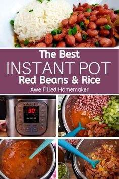Easy dinners 125749014583822215 - These Instant Pot Red Beans and Rice are seriously so, so good. This is one meal that is a staple in our house! We love that beans and rice can be a meal in themselves, making this an easy dinner! Source by msanner Instant Pot Pressure Cooker, Pressure Cooker Recipes, Pressure Cooking, Instant Pot Dinner Recipes, Easy Dinner Recipes, Easy Dinners, Red Beans And Rice Recipe Easy, Creole Red Beans And Rice Recipe, Jasmine Rice Recipes