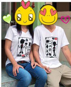 รูปรีวิวเสื้อคู่คอวี Model of Love จากลูกค้าจ้า  #เสื้อคู่ #เสื้อคู่รัก #lovercorner  http://www.lovercorner.com