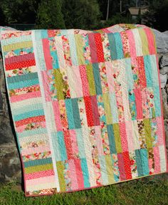 PDF Quilt Pattern.....Jelly Roll and Fat Quarter by sweetjane, $9.00