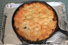 """I love the opportunity to bake in my iron skillet, so when I saws this recipe in """"Southern Living Cakes & Pies"""" I had to make it, besides, I love apple pie! This magazine was a """"special collect..."""