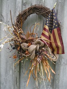Fall Wreaths Americana Wreath Autumn Door by NewEnglandWreath