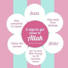 6 steps to get closer to Allah