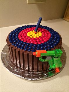 Nerf Birthday Cake 7th Birthday