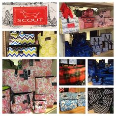 "from Ty Alexander's in Lawrenceburg, TN: ""Just in today! Scout totes,wristlets,cosmetic bags,laundry bags,multi pocket insulated totes,lunch coolers, I.D holders and more. Lots of great colors. Get ready for college"""