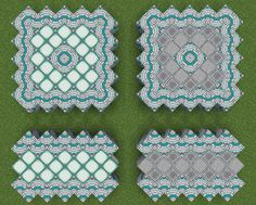 Minecraft furniture A floor pattern cod boy could use in his castle, it would look very dinky. Minecraft Building Guide, Minecraft Pattern, Minecraft Plans, Minecraft Tutorial, Minecraft Blueprints, Minecraft Creations, Minecraft Floor Designs, Minecraft Banner Designs, Minecraft Banners